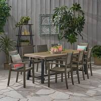 Galleon Outdoor 8 Seater Acacia Wood Dining Set by Christopher Knight Home