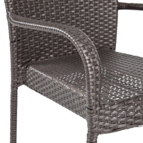 Jefferson Outdoor 8 Seater Wood and Wicker Dining Set by Christopher Knight Home