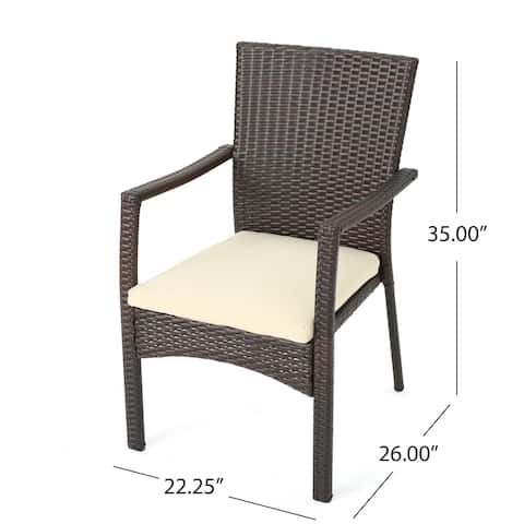 Amanda Outdoor 8 Seater Expandable Wood and Wicker Dining Set by Christopher Knight Home