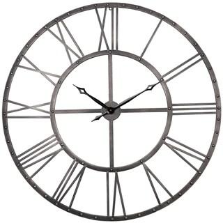 The Gray Barn Grey Rivet Roman Industrial Oversize Wall Clock