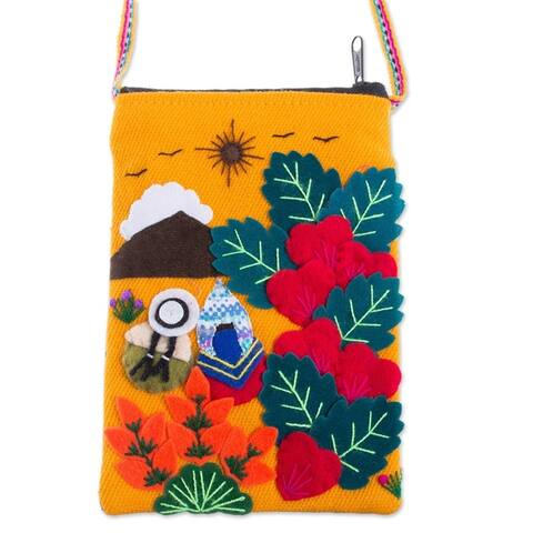 Handmade Love in The Mountains Applique Mini Shoulder Bag (Peru)