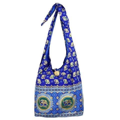 Handmade Royal Thai Elephant Cotton Shoulder Bag (Thailand)