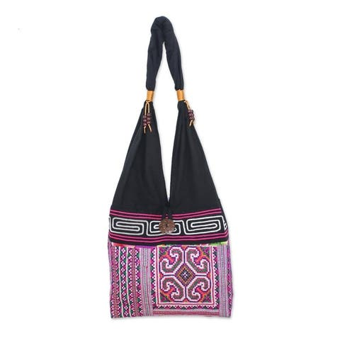 Handmade Thai Brilliance Cotton Shoulder Bag (Thailand)
