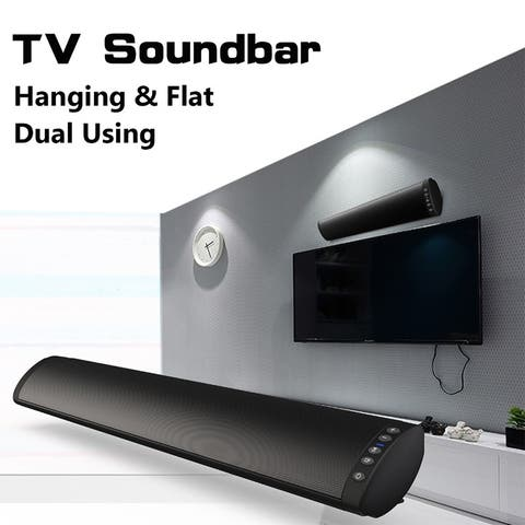 Sound Bars for TV Strong Bass Wired and Wireless Audio Speakers for TV Audio Bar FM TF Support 3.5mm Fiber RCA Suspension & Flat