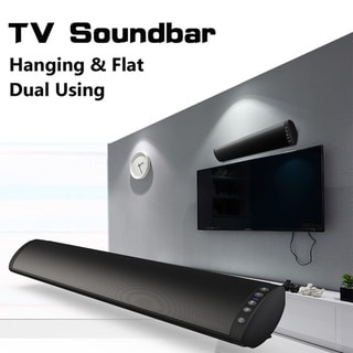Link to Sound Bars for TV Strong Bass Wired and Wireless Audio Speakers for TV Audio Bar FM TF Support 3.5mm Fiber RCA Suspension & Flat Similar Items in Home Automation