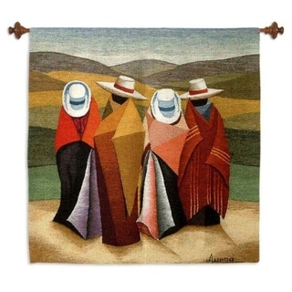 Handmade Peruvian Horse Riders Wool Tapestry (Peru)