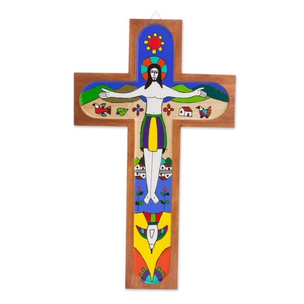 Beautiful Resurrection Wood Wall Cross
