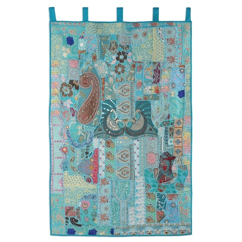 Floral Garden Recycled Cotton Blend Patchwork Wall Hanging
