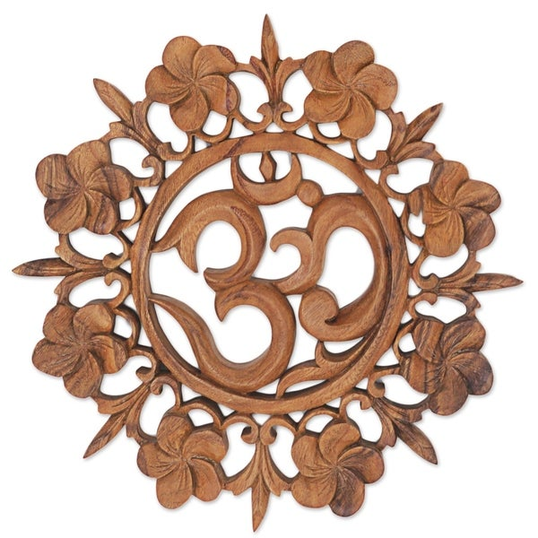 Handmade Om Is Life Wood Wall Relief (Indonesia)