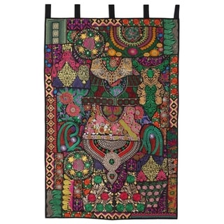 Handmade Flair Recycled Cotton Blend Patchwork Wall Hanging (India)