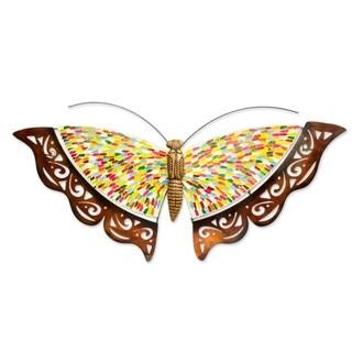 Rainbow Butterfly Iron Wall Sculpture