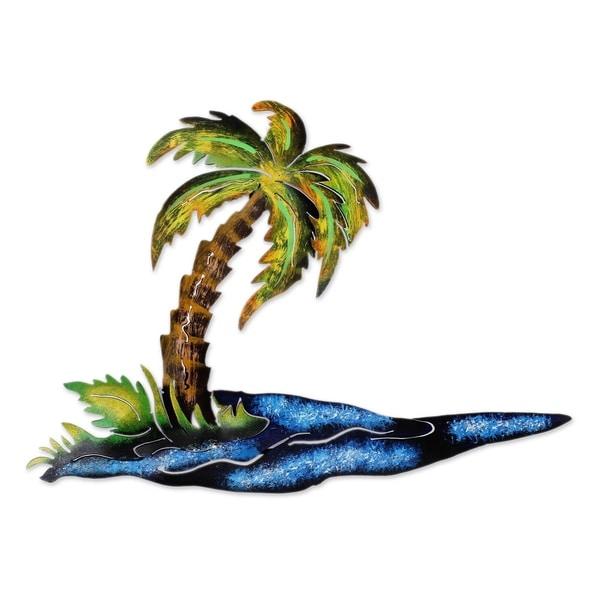 Tropical Palm Steel Wall Art