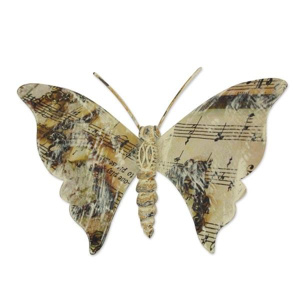 Musical Butterfly Iron Wall Sculpture