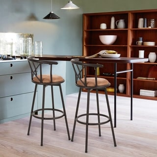Link to Carson Carrington Idivuoma Brown Swivel Bar Stool (As Is Item) Similar Items in As Is