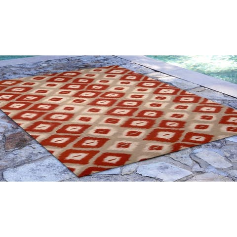 Liora Manne Visions II Ikat Diamonds Indoor/Outdoor Rug