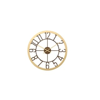 CITIZEN Gallery Gold Case Mirror Dial Wall Clock