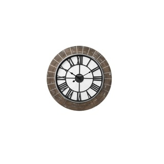 CITIZEN Gallery Brick Motif Iron Wall Clock