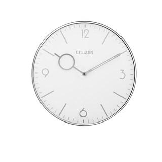 CITIZEN Gallery Silver Circular Wall Clock