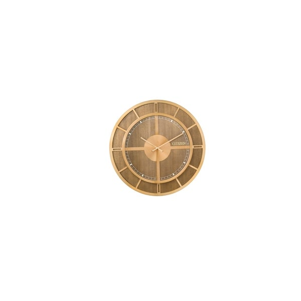 CITIZEN Gallery Gold-tone Wood Wall Clock
