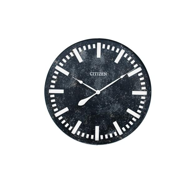 CITIZEN Gallery Industrial Design Black Wall Clock