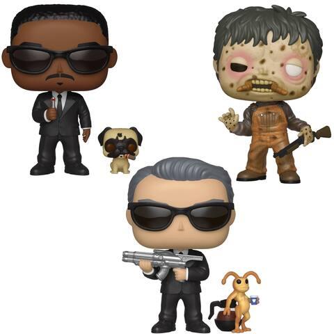 Funko POP! Movies Men in Black Collectors Set - Agent K & Needle, Agent J & Frank, Edgar