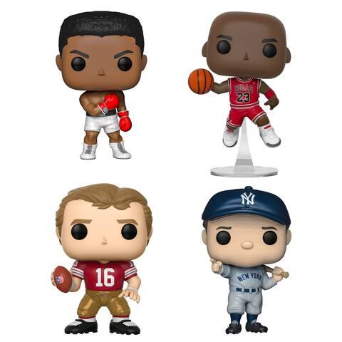 Funko POP! Sports Legends Collectors Set - Michael Jordan, Muhammad Ali, Joe Montana, Babe Ruth