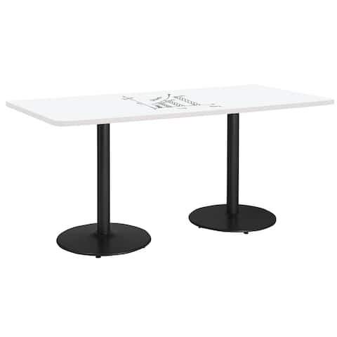 KFI Whiteboard Conference Table, Round Base