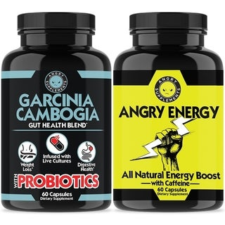 Garcinia Cambogia with Probiotics + Angry Energy Weight Loss Supplement Combo (2PK)