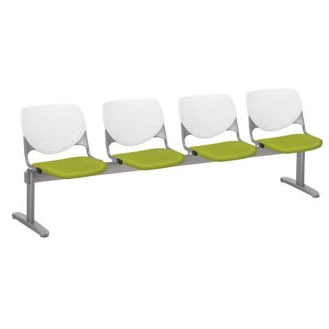 KFI KOOL 4 Seat Upholstered Reception Bench