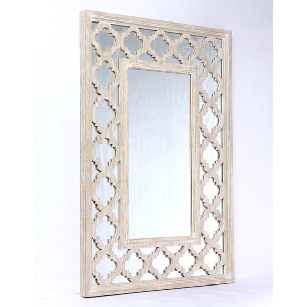 Emerald Home Canterwood Whitewash Rectangular Accent Mirror - White Washed
