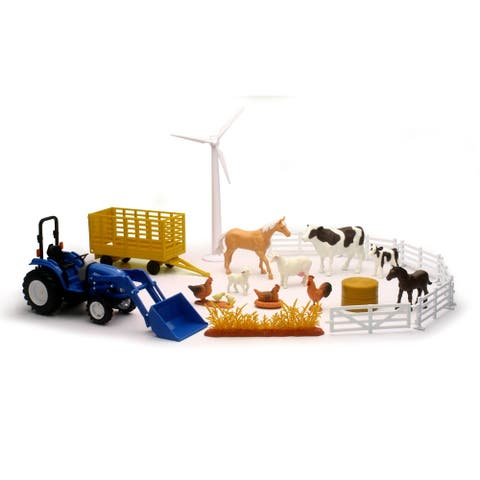 New Holland Boomer 55 Tractor Playset - Blue