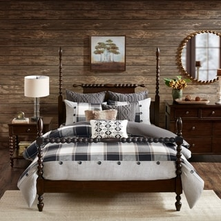Link to Madison Park Signature Urban Cabin Brown Cotton Jacquard Queen Size Comforter Set (As Is Item) Similar Items in As Is