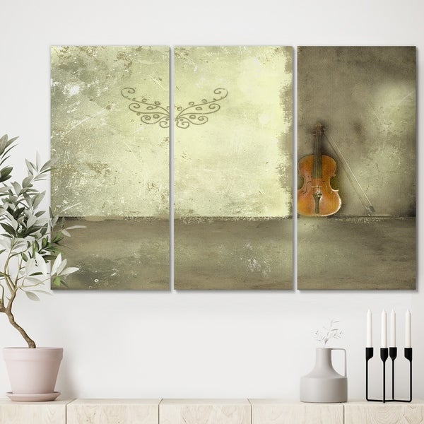 Designart 'Resting Notes' Cottage Gallery-wrapped Canvas - 36x28 - 3 Panels