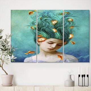 Designart 'Sweet Allure' Modern Canvas Wall Art - 36x28 - 3 Panels