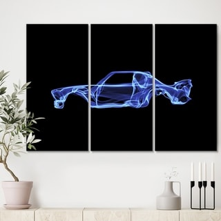Designart 'BMW 30 CSL' Modern Gallery-wrapped Canvas - 36x28 - 3 Panels