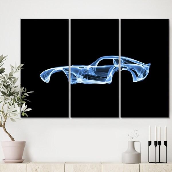 Designart 'Shelby Daytona' Modern Gallery-wrapped Canvas - 36x28 - 3 Panels