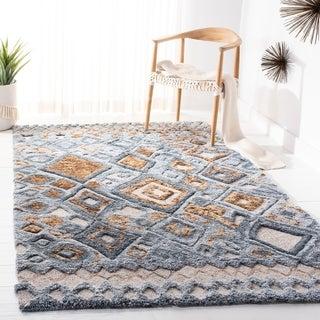 Link to Safavieh Handmade Casablanca Shag Masako Tribal Wool Rug Similar Items in Rugs