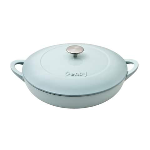 Denby Pavilion Cast Iron 3.8L Shallow Casserole Dish