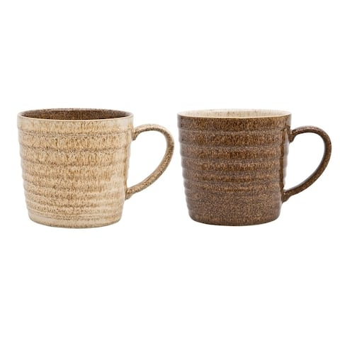 Denby Studio Craft Set of 2 Alt Ridged Mugs