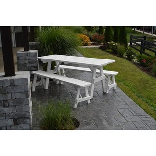 5 Foot Pine Picnic Table w/2 Benches