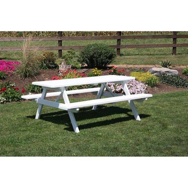 5 Foot Pine Picnic Table w/Attaached Benches