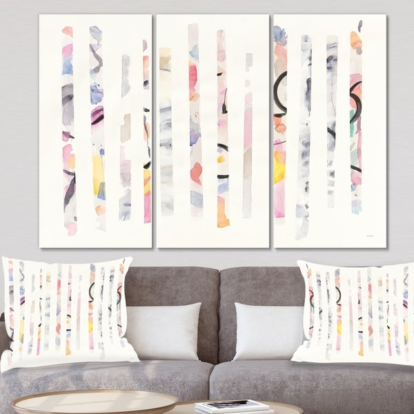 Shop Designart 'Multi-Color Geometric Bars' Modern