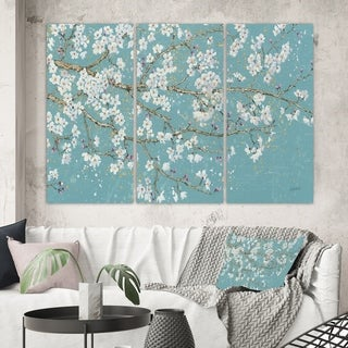 Designart 'Blue April Tree' Traditional Gallery-wrapped Canvas