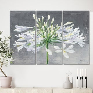 Designart 'Flower Cleome Splash I' Traditional Floral Canvas Artwork