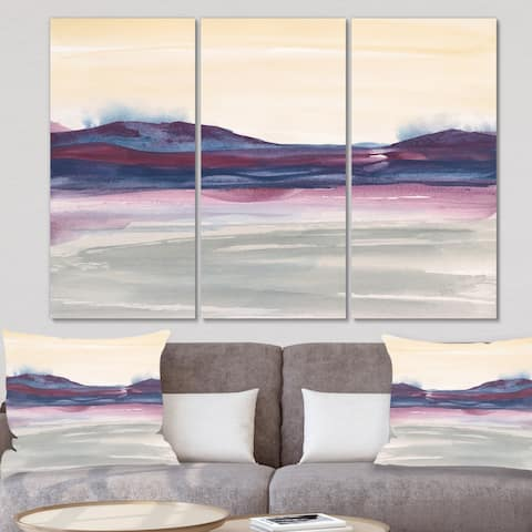 Designart 'Purple Rock landscape II' Shabby Chic Gallery-wrapped Canvas