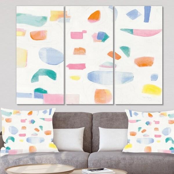 Designart 'Joy Geometric Simple' Mid Century Modern Canvas Wall Art