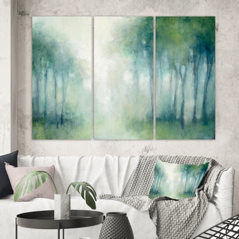 Designart 'Walk in the Forest' Traditional Landscape Canvas Wall Art