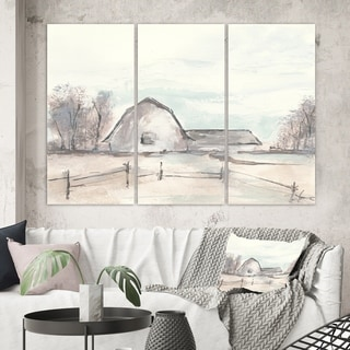 Designart 'Farmhouse Barn Grey VIII' Modern Farmhouse Canvas Wall Art