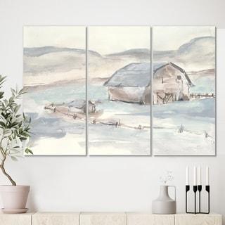 Designart 'Farmhouse Barn Grey IV' Modern Farmhouse Canvas Wall Art