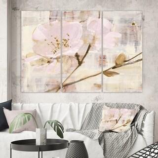 Designart 'Elegance I Pink' Shabby Chic Canvas Art